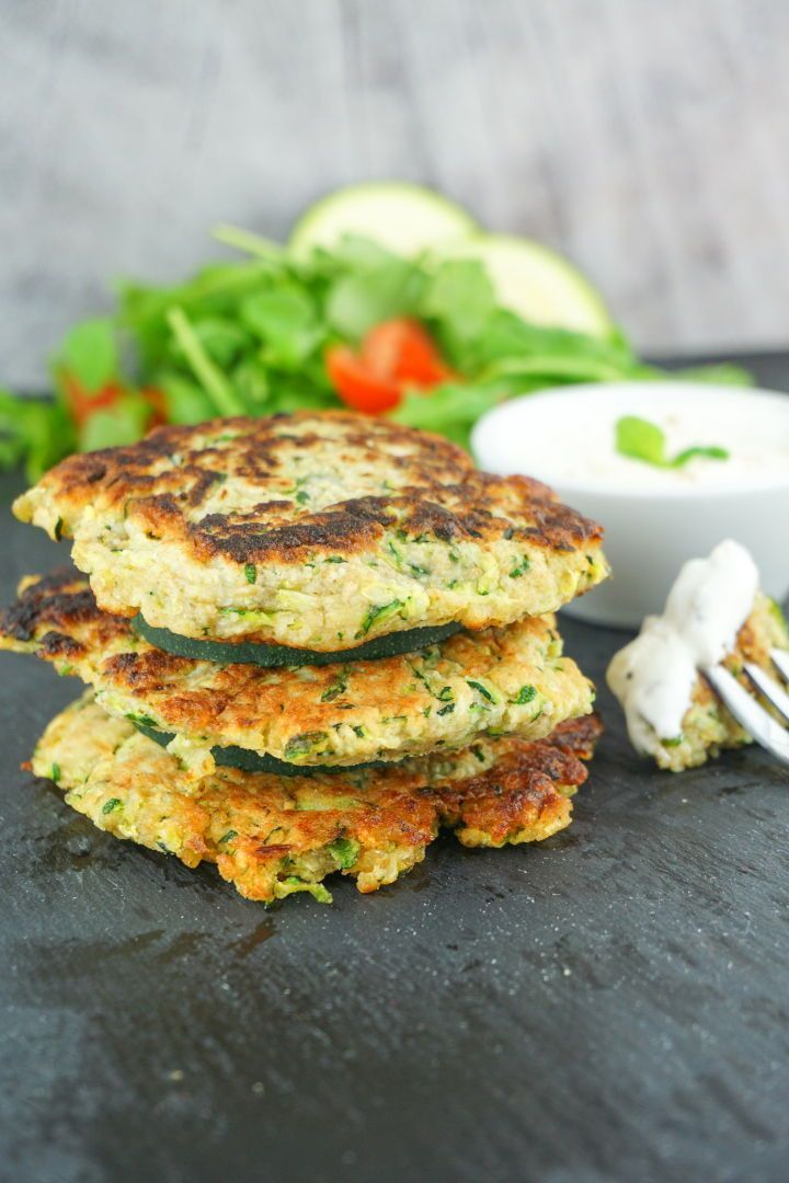 Photo of Zucchini Buffer Recipe Low in calories and low in fat