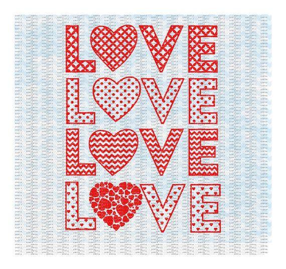 Download Love Heart Valentine Svg4 designs Chevron Dots by ...