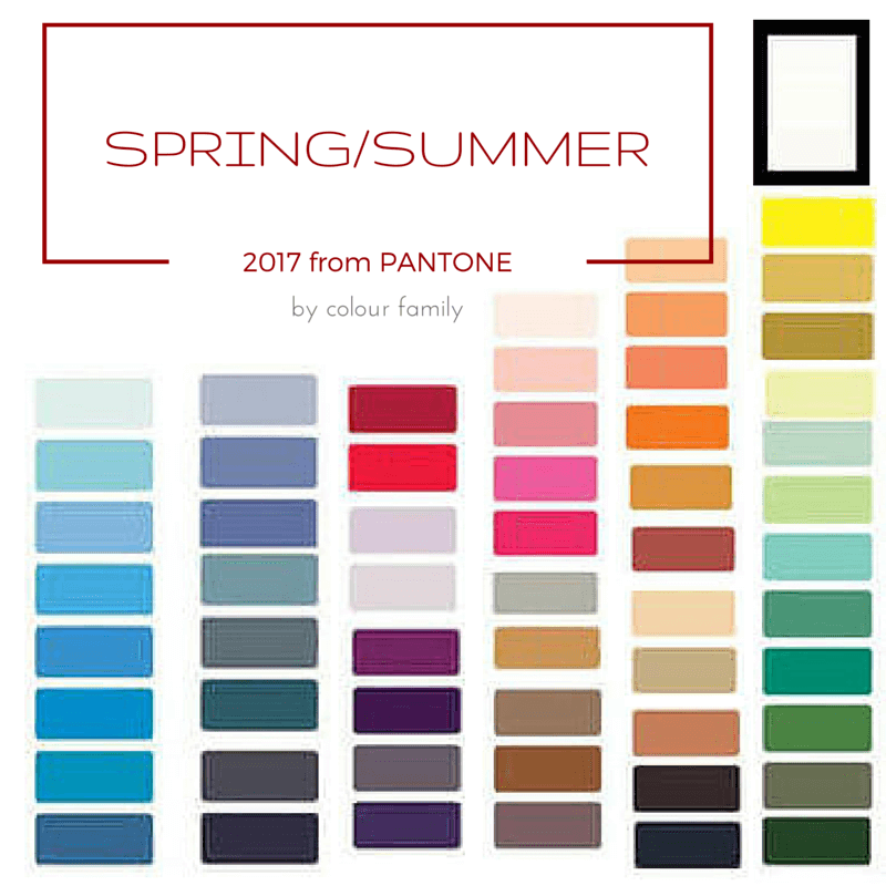 Spring Summer 2017 By Colour Family Meccinteriors