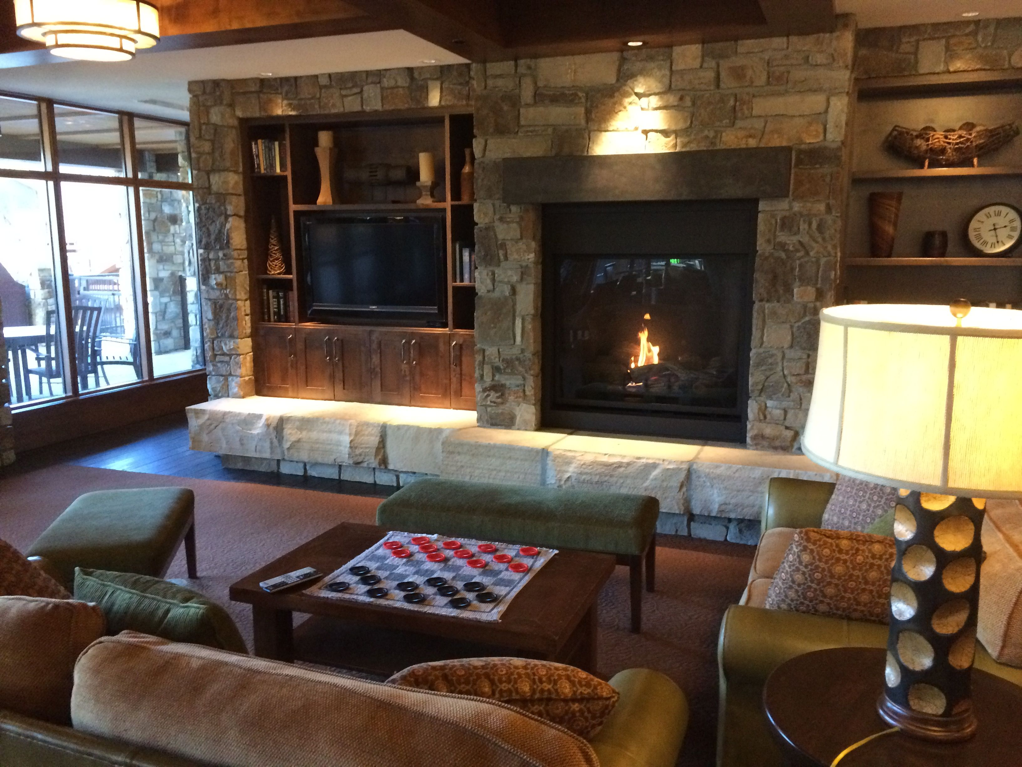 our cozy owners lounge at northstar lodge in lake tahoe