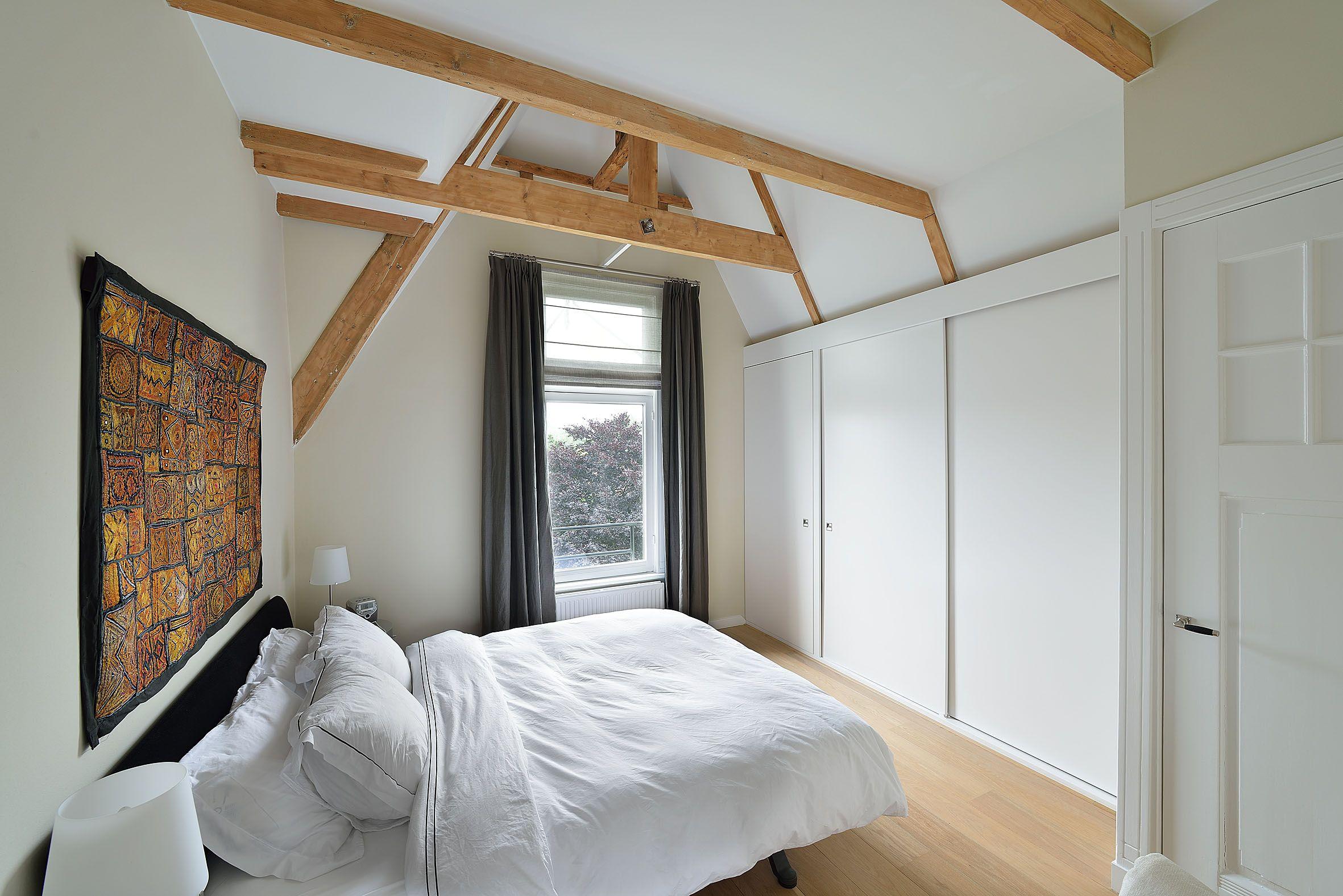 Luxe Slaapkamer Ideen : Slaapkamer met houten spanten in het zicht keukens pinterest