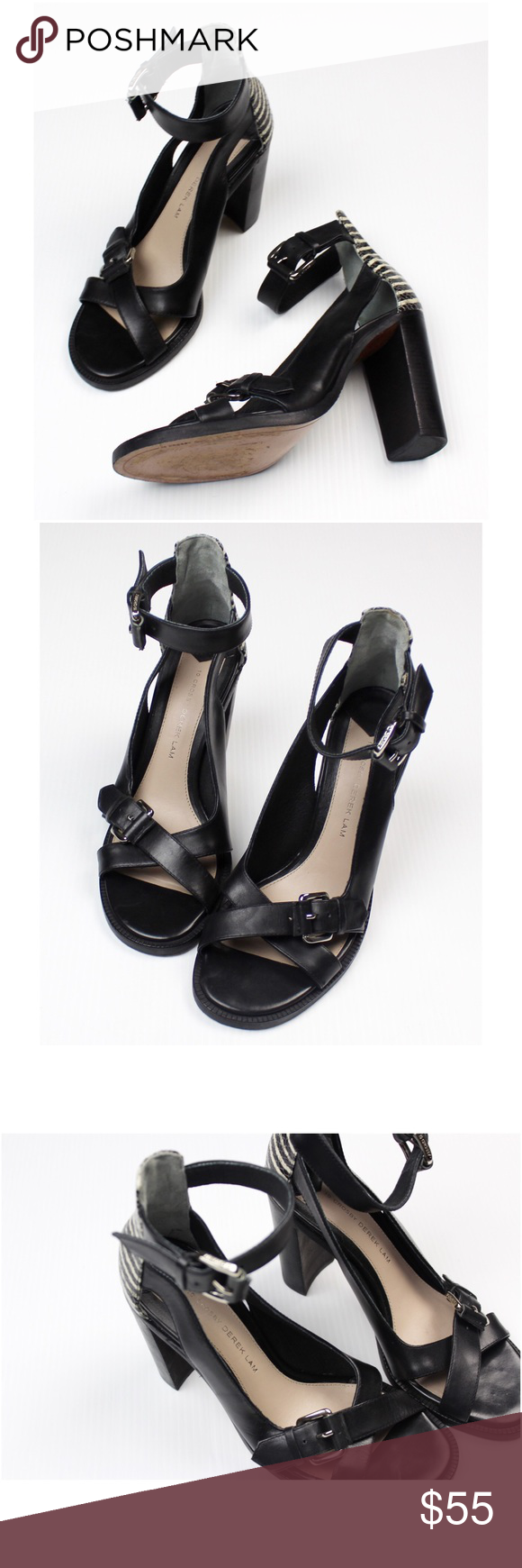 10 Crosby Derek Lam Safra Ankle Strap Sandal Ankle Strap Sandals Derek Lam Shoes Strap Heels
