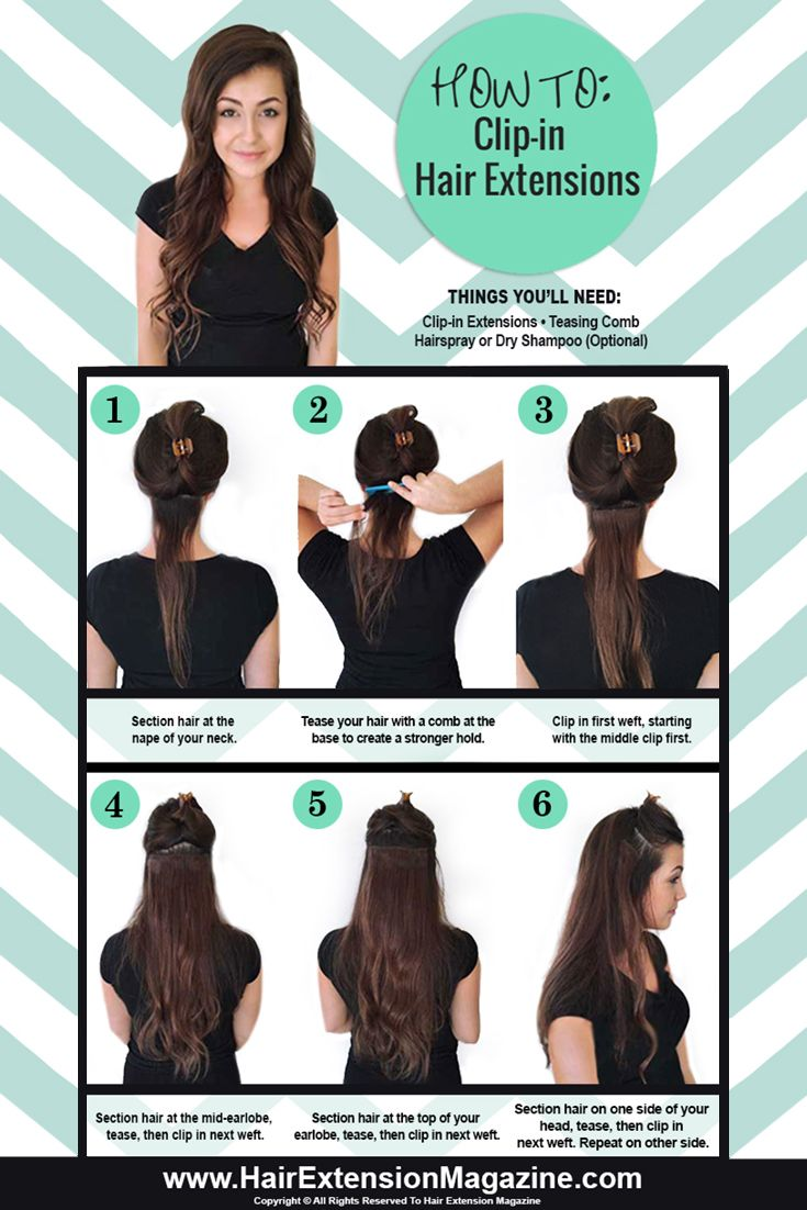 Learn how to clip in hair extensions the right way hair clip in hair extensions have become the latest hot new trend hem is here to give you a step by step guide on the best way to clip in hair extensions pmusecretfo Images
