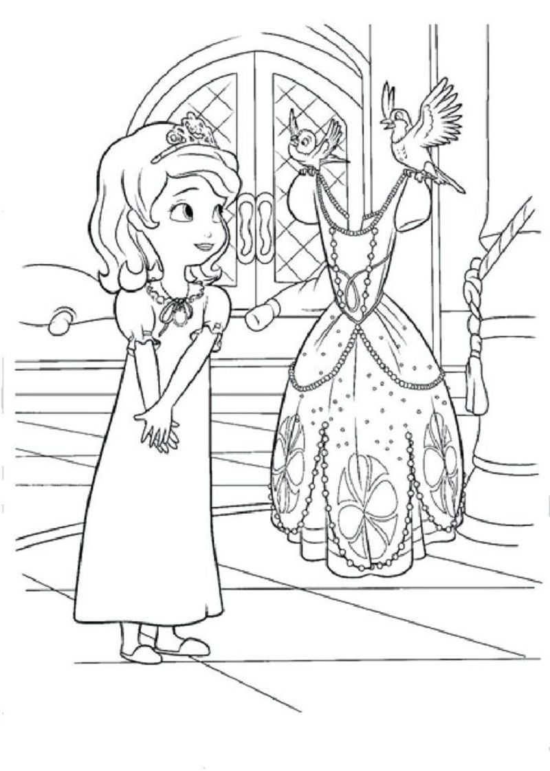 Princess Sofia Coloring Page In 2020 Mermaid Coloring Pages Disney Coloring Pages Princess Coloring Pages