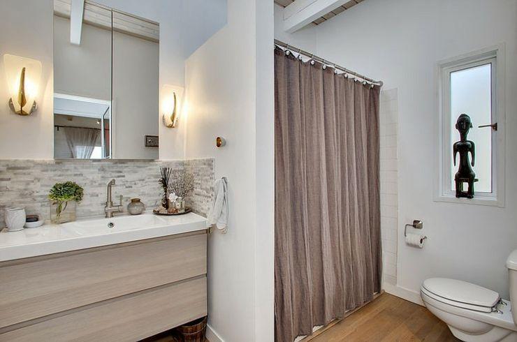 Salle d\'eau et toilette avec rideau d\'intimité | Idées pour la ...