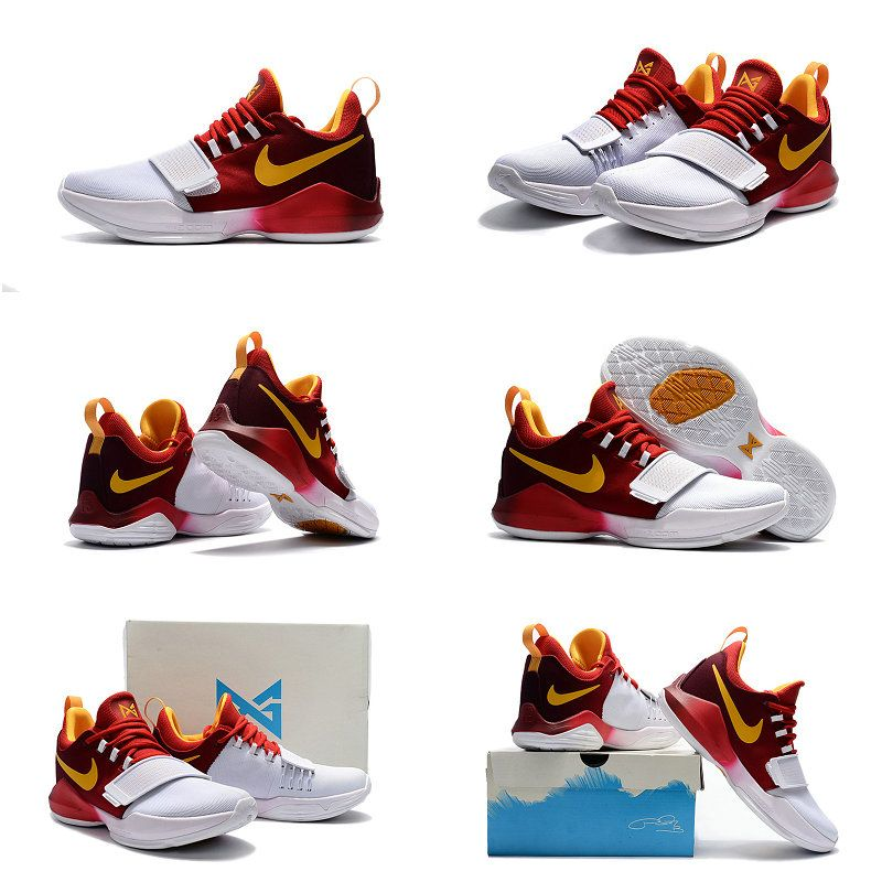 huge selection of 616fd af40d 2018 Cheap Nike PG 1 New Colorways May 2018 Burgundy White