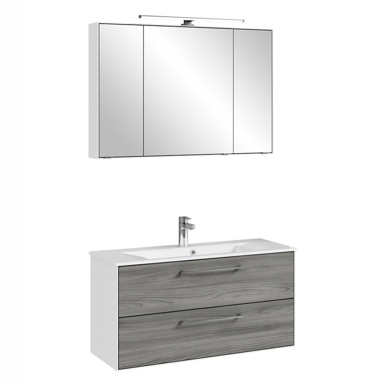 Badezimmer Set Gunstig Kaufen Badschrank Mit Waschekippe Breit Spiegelschrank Bad Mit B Badezimmer Spiegelschrank Spiegelschrank Spiegelschrank Beleuchtung