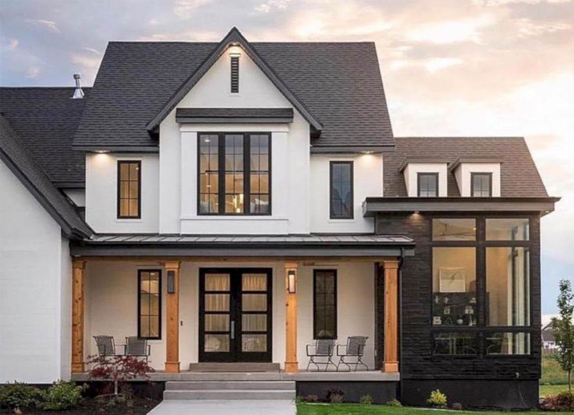 47 Cozy Water Roof Ideas For Home With Black Gutters #futurehouse