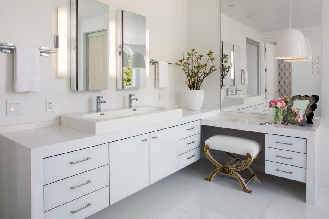 48 Fantastic Bathroom Countertop Ideas Look Elegant images