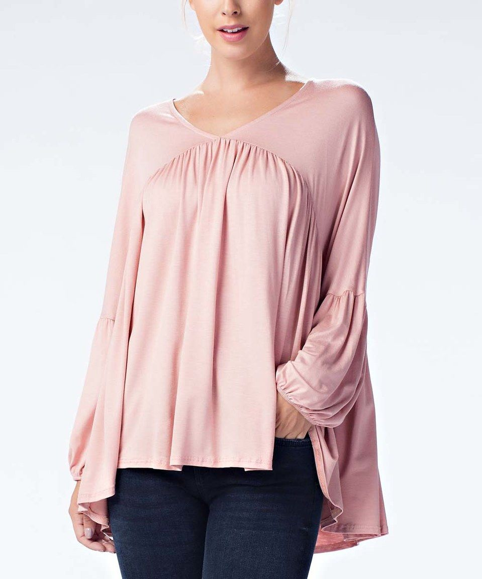 This Avenue Hill Dusty Pink Puff-Sleeve Tunic by Avenue Hill is perfect! #zulilyfinds