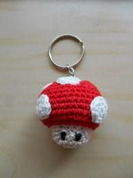Gehaakte Mushroom Sleutelhanger Van Super Mario Knit And Crochet