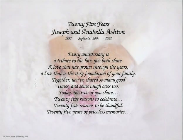 Happy Anniversary Wishes Poem Photo