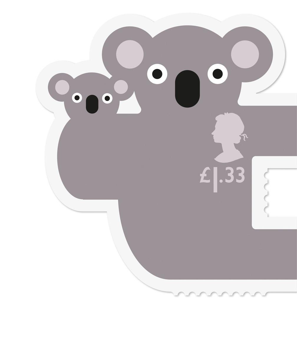 UK Royal Mail // Animail koala postage stamp