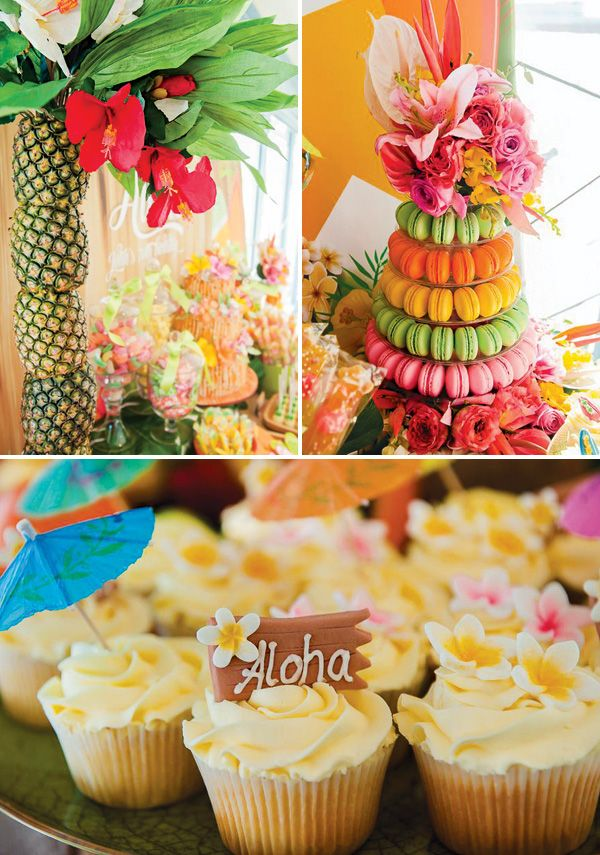 Surf 39 s up tropical hawaiian 70th birthday party 70 for Tropical themed house