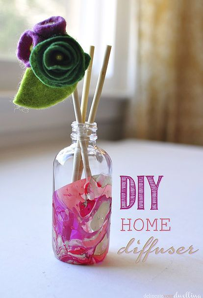 how to create your own diy marbled room diffuser using old glass jars, crafts, how to, repurposing upcycling