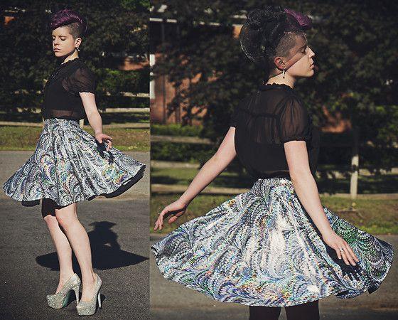 Water Marble Circle Skirt