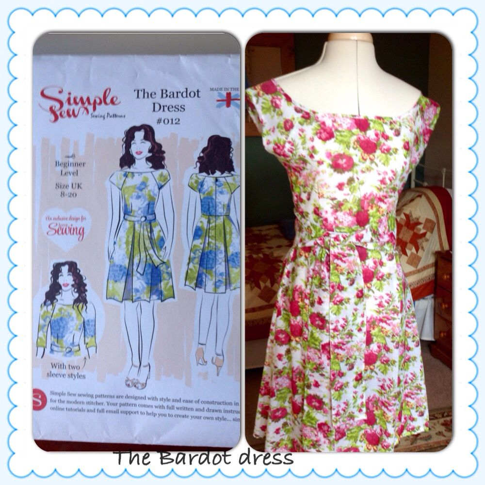The bardot dress used the simple sew pattern from the love sewing used the simple sew pattern from the love sewing magazine fabric jeuxipadfo Image collections