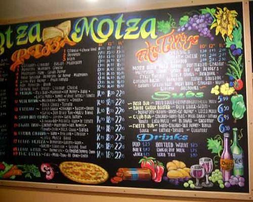 Italian Chalkboard Menu Menu Board Design Chalkboard Menu Menu