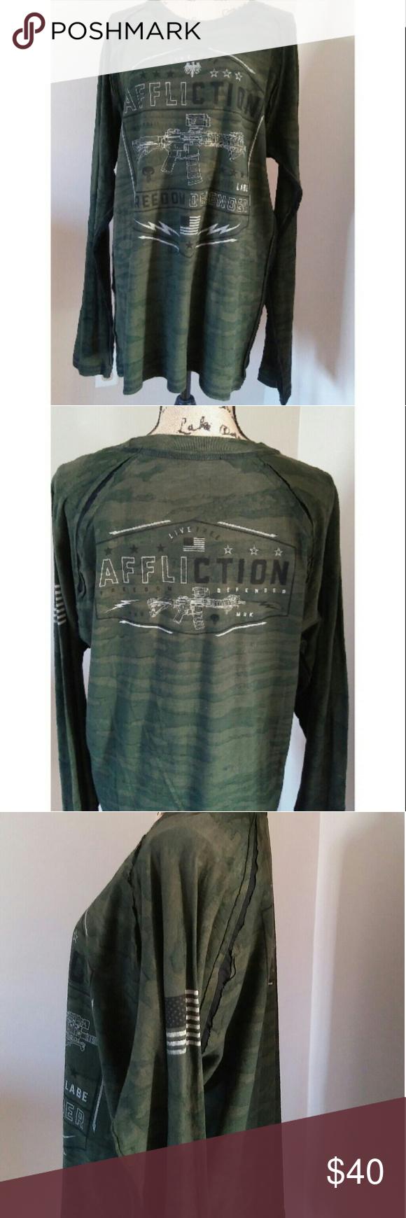 NWT Affliction Shirt Clothes design, Fashion, Fashion design