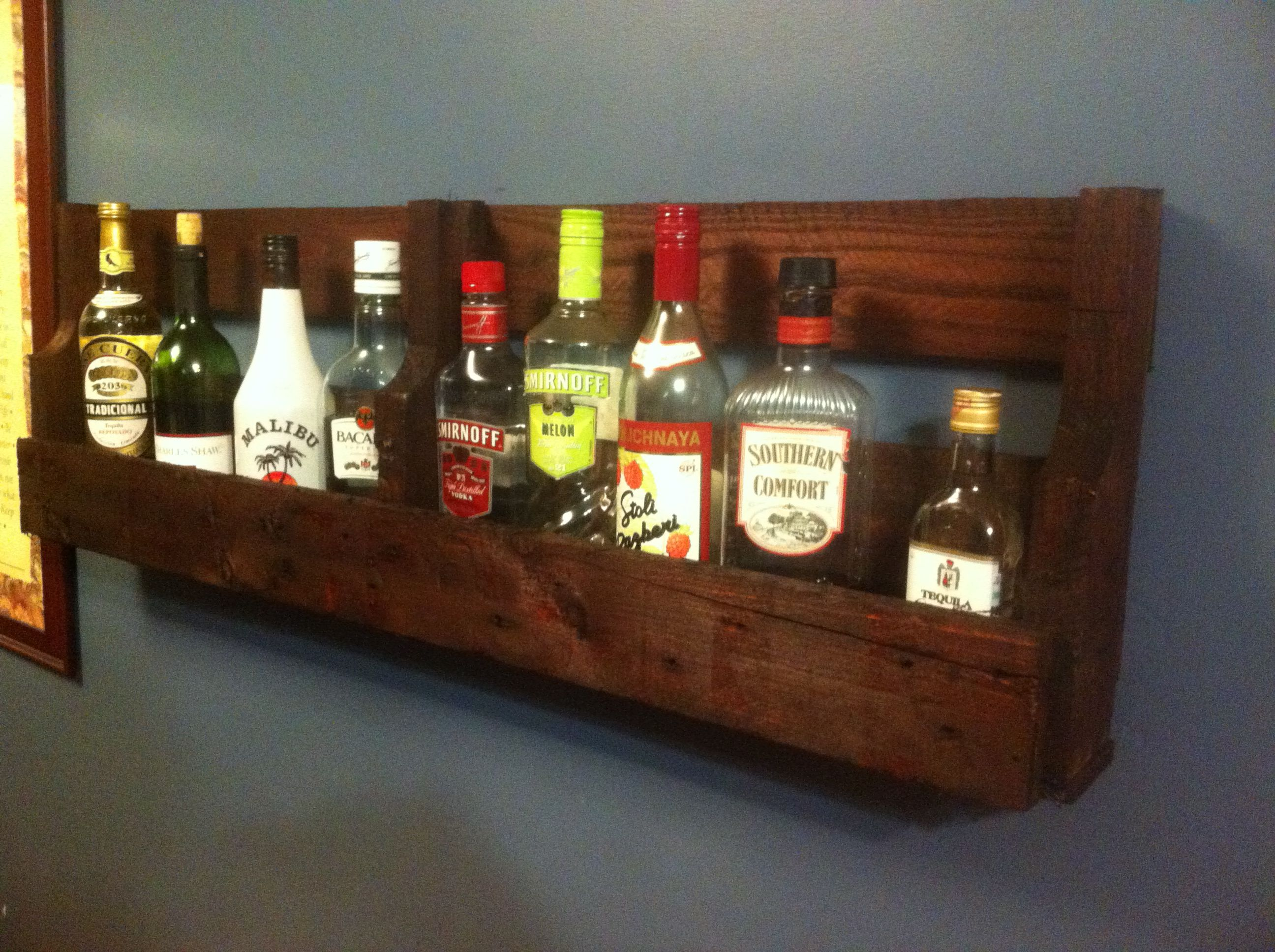 Pallet Liquor Shelf Liquor Shelf Rustic Wine Racks Scrap Wood