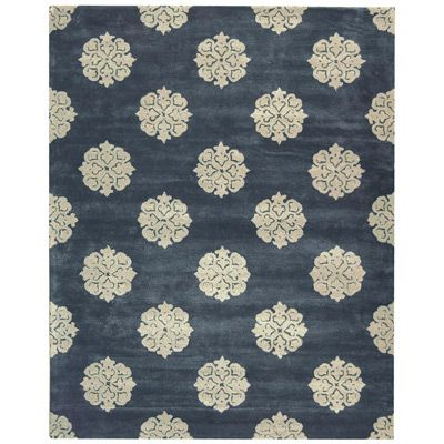 Soho Blue Contemporary Wool Rug from Layla Grace
