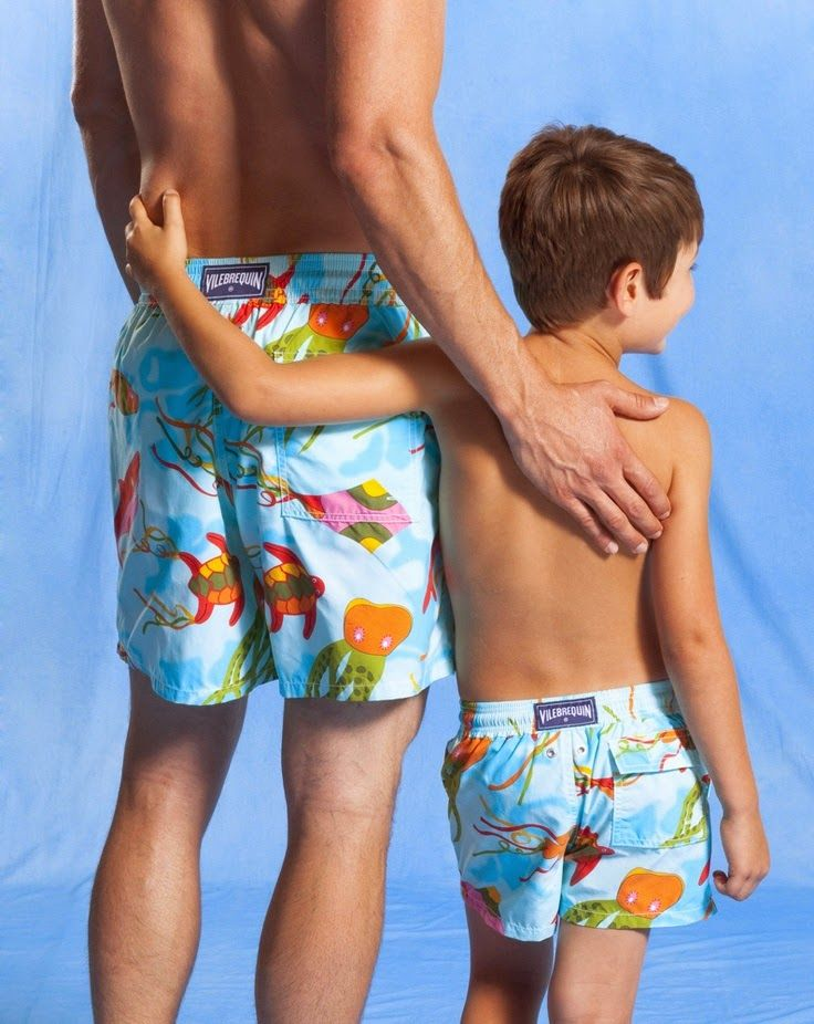 c9e8874fae This Ain't Europe; A Guy's Guide to Skimpy Swimwear this Summer.  Vilebrequin father and son matching swim trunks. Xo, LisaPriceInc.