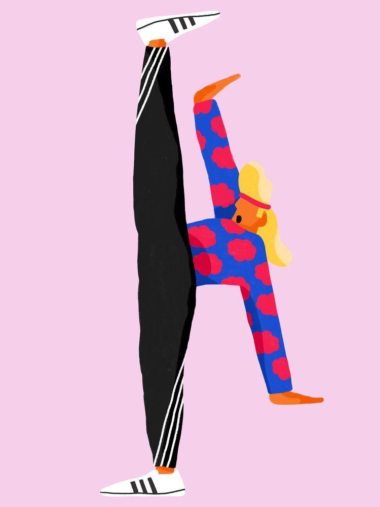 Image of Acrobat | Illustration de portrait, Illustrations ...