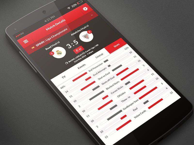 Football Schedules App Design by Aleksandar Nikcevic