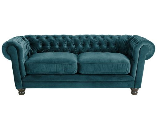 chesterfield samt sofa sally 2 sitzer for the home. Black Bedroom Furniture Sets. Home Design Ideas