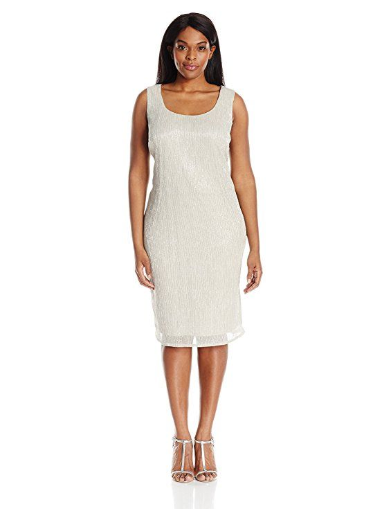 r&m richards women's plus size shimmer jacket dress | new plus