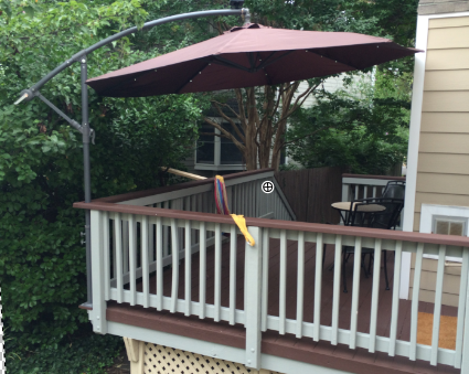Cantilever Umbrella Valuable Outside Mount Space Deck Rail Save Deck The To Amount A Cantilever Umbrella Out Deck Shade Deck Umbrella Deck Awnings