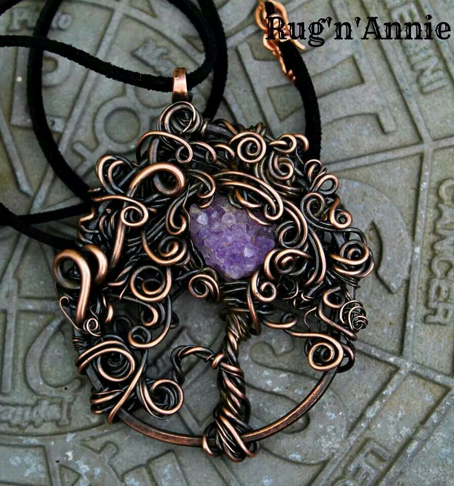 Via Mary-Anne Harvey on Wire Wrap Jewelry Artists group on Facebook ...