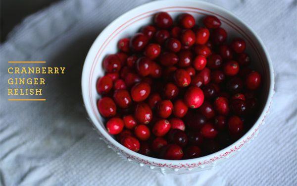 Cranberry-ginger relish #thanksgiving