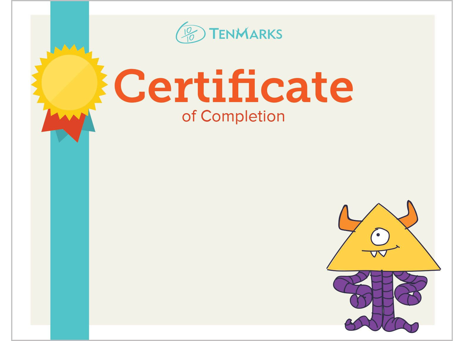 Tenmarks Education  Online Math  Certificates