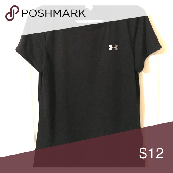 Under Armour dry fit women's tee. Under Armour dry fit women's tee. Black with silver symbol. Size Medium, loose fit. Worn once. Under Armour Tops Tees - Short Sleeve