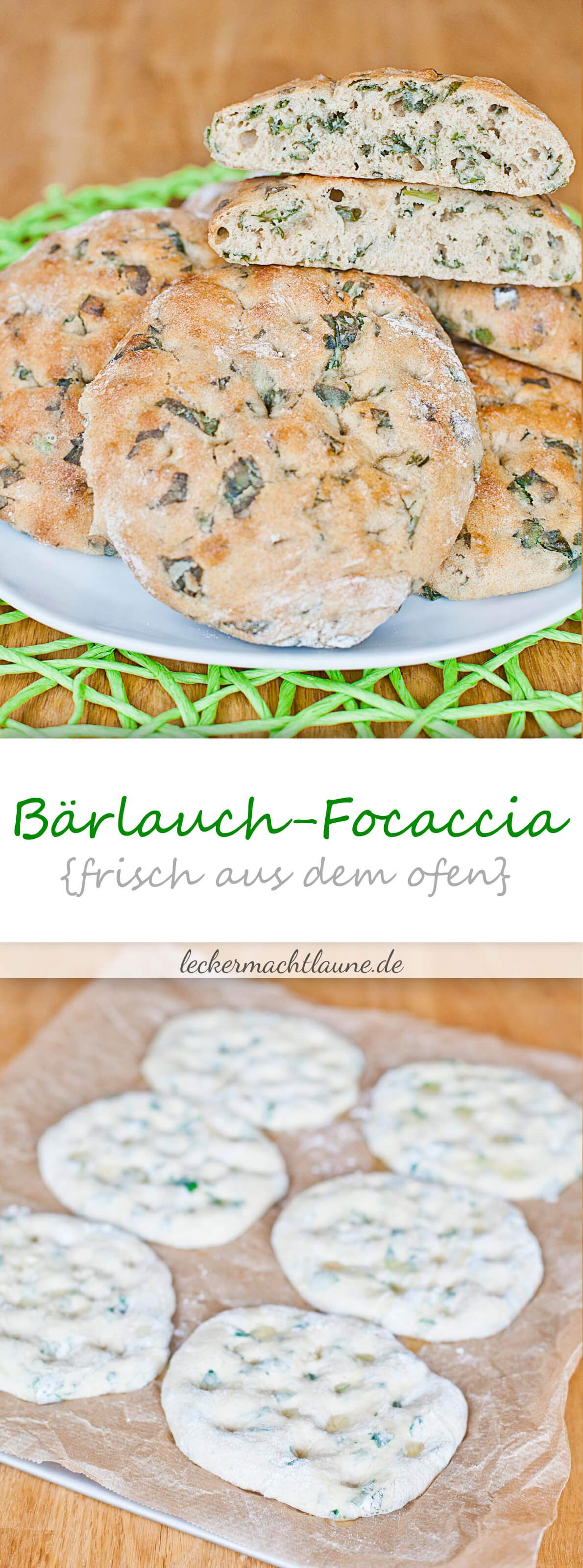 Bärlauch-Focaccia {frisch aus dem ofen} | lecker macht laune