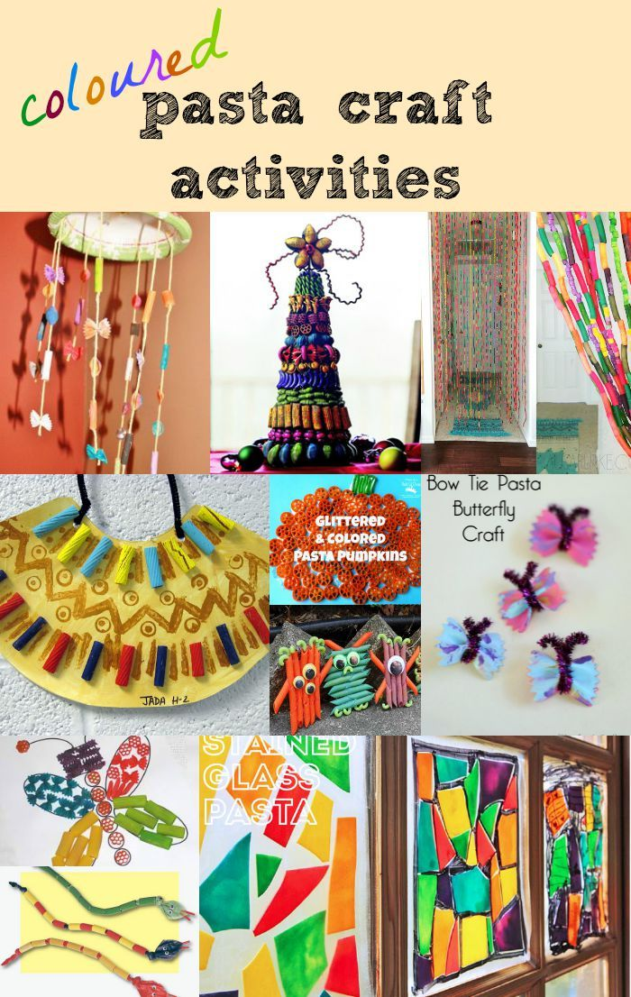 Coloured Pasta Craft Activities for kids | 101 things to do with ...