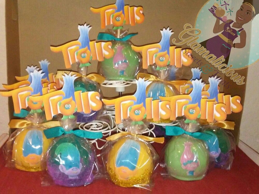 Trolls Themed Chocolate Covered Strawberries