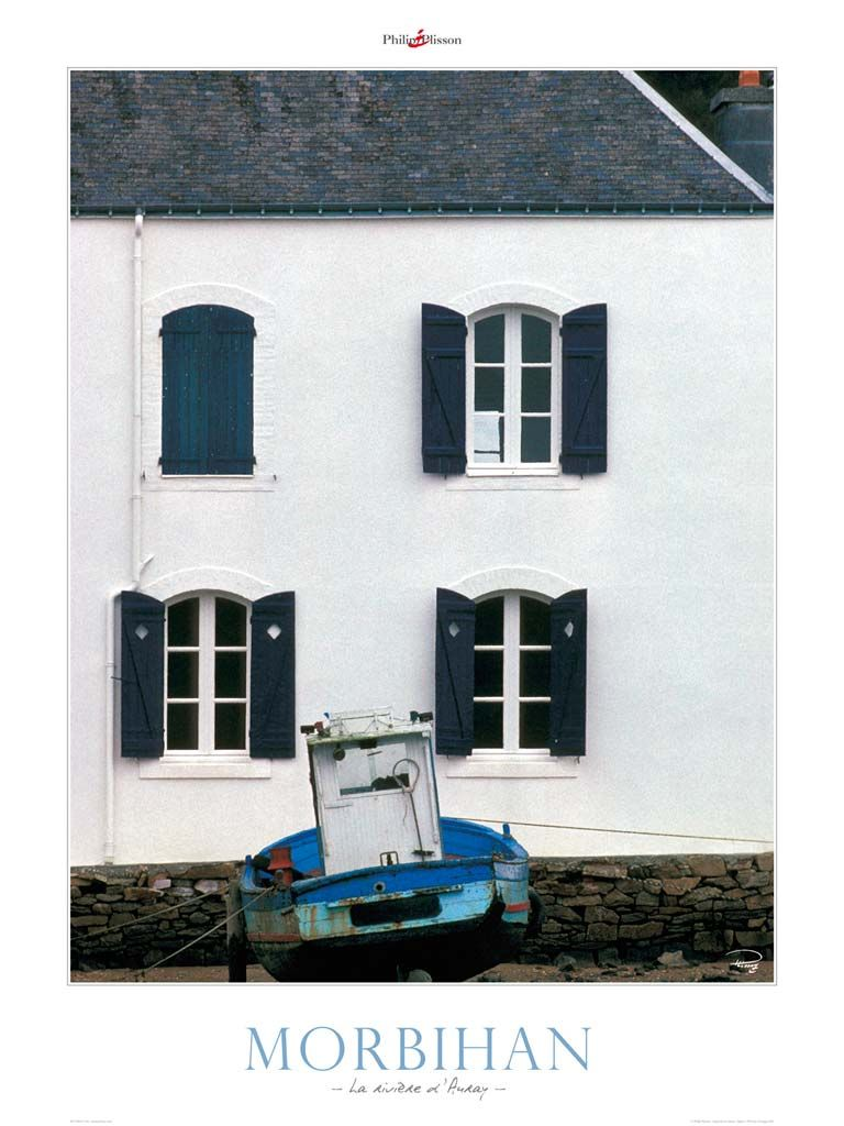 Poster photo Bretagne La rivière d'Auray- Morbihan - Philip Plisson