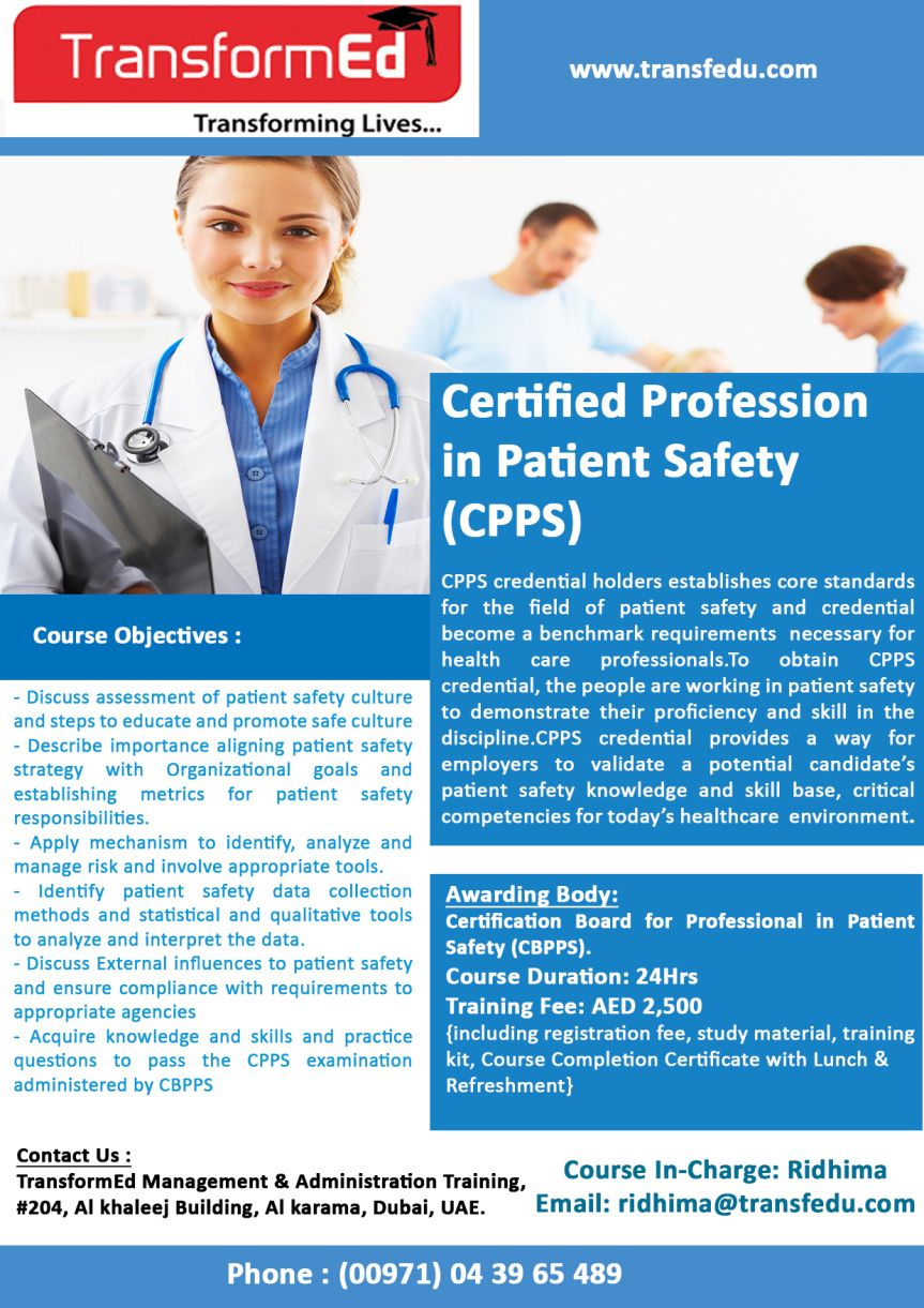 Cpps Certified Professional In Patient Safety Medical Coding In