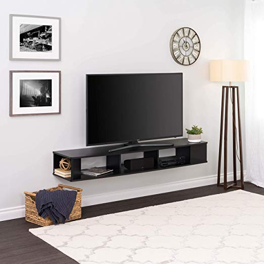 Amazon Com Prepac 70 Wide Wall Mounted Tv Stand 70 Inch Black