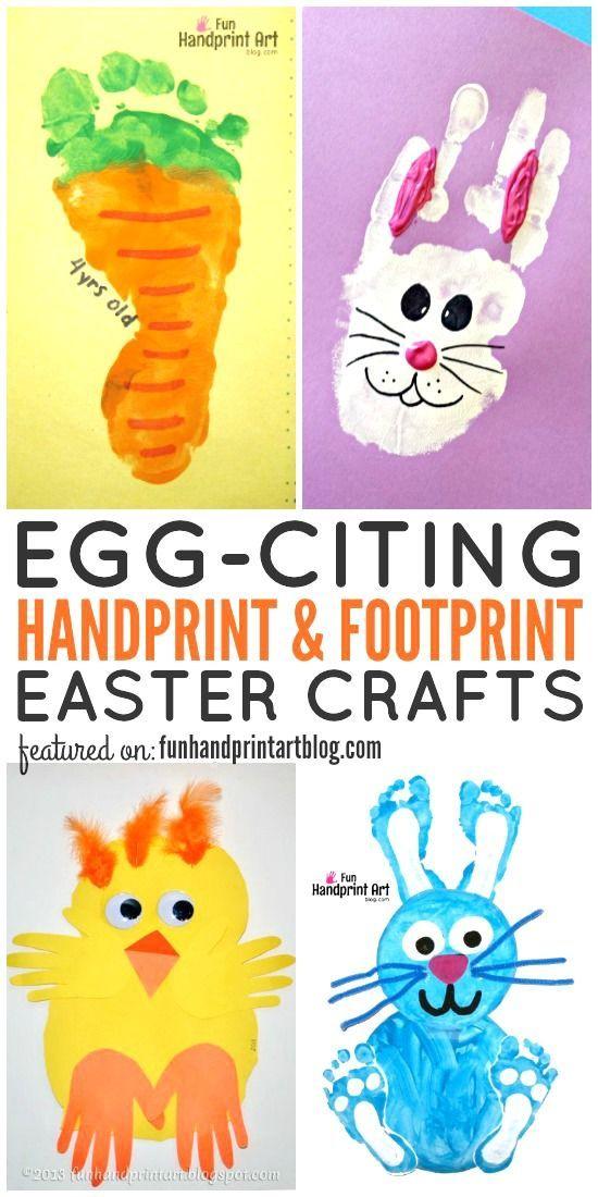 Photo of Handprint and footprint Easter Crafts – HUGE LIST! – Fun handprint art