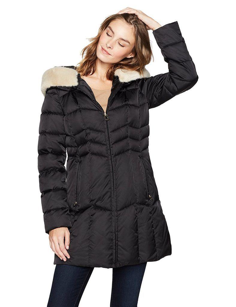 a1eeaec5f HAVEN OUTERWEAR Women's Chevron Puffer Coat With Faux Fur Trim in ...