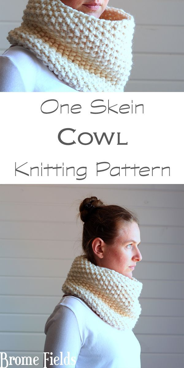One Skein Cowl Knitting Pattern Reflection By Brome Fields