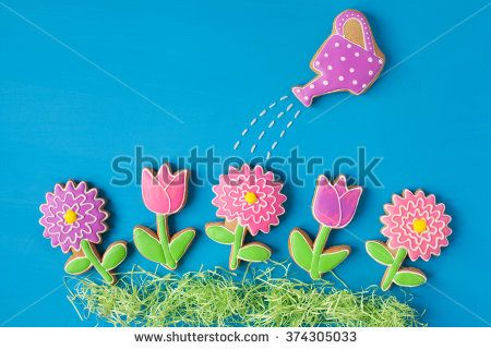 watering can cookies - Google Search