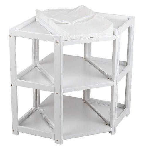 Nice Badger Basket Diaper Corner(TM) Baby Changing Table   White
