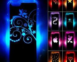 Luxusný svietiaci LED obal na Apple iPhone 6 s motívom kvetín
