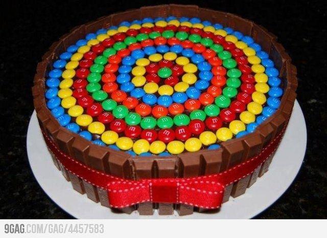M's   Kitkat Cake