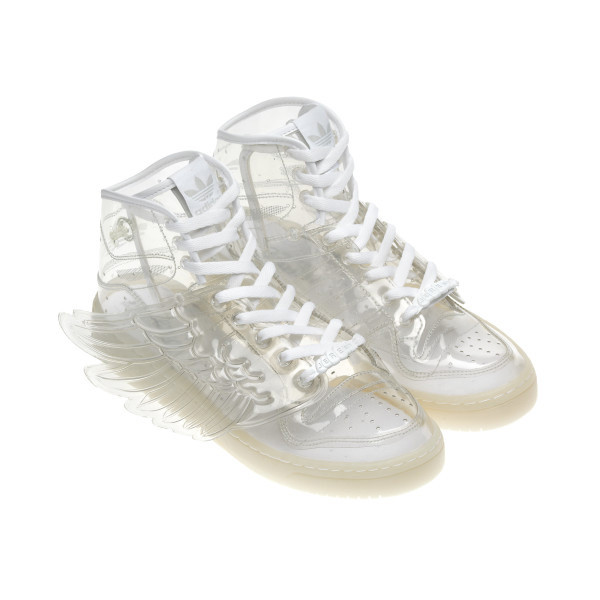 check out 5c3e9 0b823 clear adidas Lightsdrivemysoul ❤ liked on Polyvore. can you see my hammer  toes   hmm Adidas Jeremy Scott Wings, Clear Shoes,
