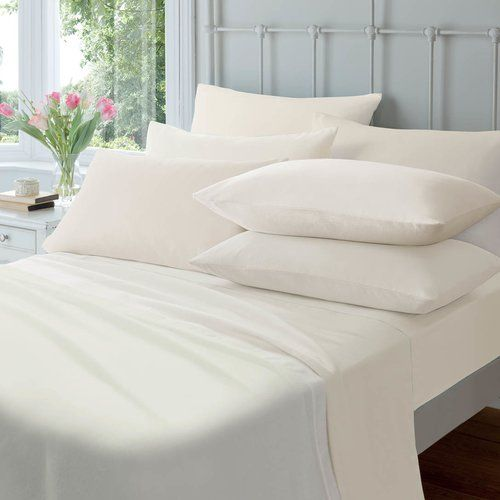 100 /% Brushed Cotton Flannelette  Fitted// Flat Sheets Pillowcase// 4 Pc Bed Sets